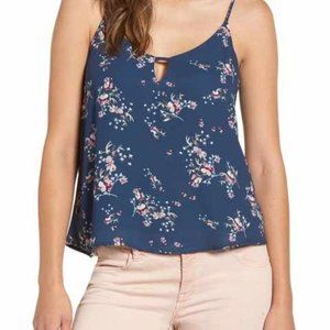 Lush Nordstrom Keyhole Strappy Floral Tank